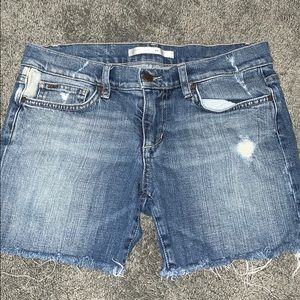 Joe's Jeans frayed edge jean shorts